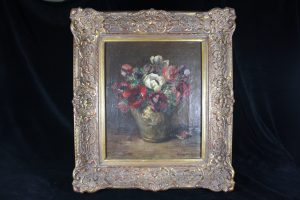 F05009 – Marvellous painting, still life, vase with a bouquet...