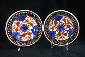 D16010 – Pair of deep plates Boerenbont décor by Societe...