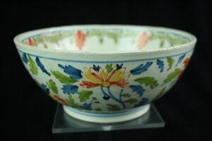 99999 – Royal Tichelaar antique polychrome bowl