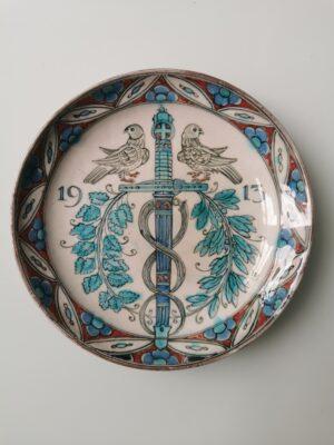 99999 –  A Royal Delft Nieuw Delfts plate commemorating...
